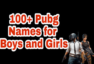 Pubg Names For Boys and Girls
