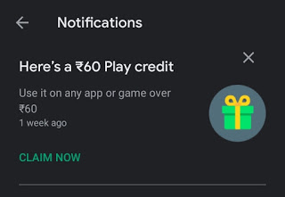 google play credits for PUBG Mobile